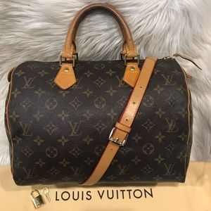 Authentic Louis Vuitton Speedy 30 Tote #3.5L